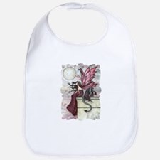 Restless Ruby Fairy and Dragon Fantasy Art Bib