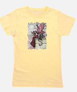 Restless Ruby Fairy and Dragon Fantasy Girl's Tee