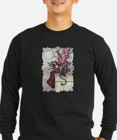 Fairy and Dragon Fantasy Art b Long Sleeve T-Shirt