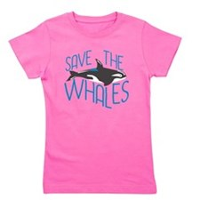 Funny Save whales Girl's Tee