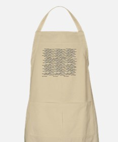 Technotext Techno Cool Black Text Logo Apron