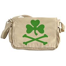 Shamrock And Crossbones Messenger Bag