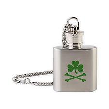 Shamrock And Crossbones Flask Necklace