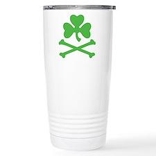 Shamrock And Crossbones Travel Mug