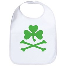 Shamrock And Crossbones Bib
