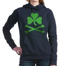 Shamrock And Crossbones Women's Hooded Sweatshirt
