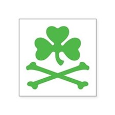 Shamrock And Crossbones Sticker