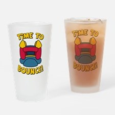 Time To Bounce Drinking Glass