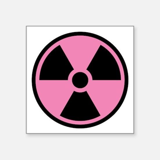 Pink Radioactive Symbol Sticker
