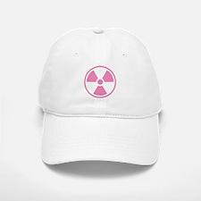 Pink Radioactive Symbol Baseball Baseball Baseball Cap
