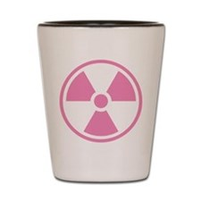 Pink Radioactive Symbol Shot Glass