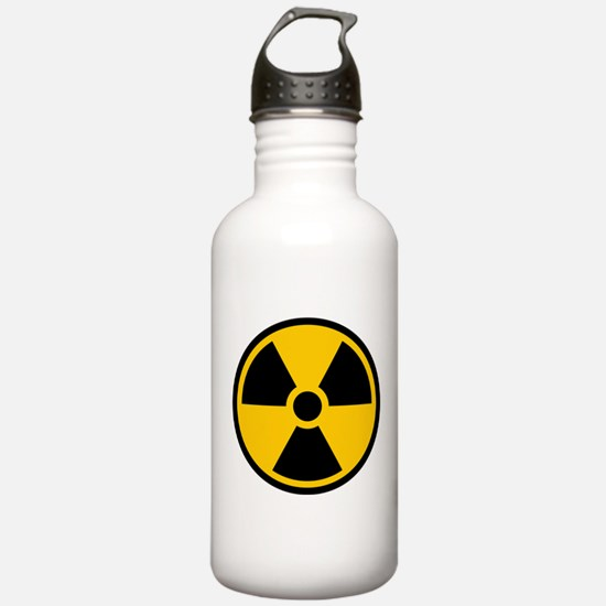 Radioactive Symbol Water Bottle
