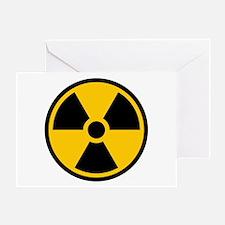 Radioactive Symbol Greeting Cards