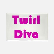 TWIRL DIVA Rectangle Magnet (10 pack)