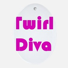 TWIRL DIVA Oval Ornament