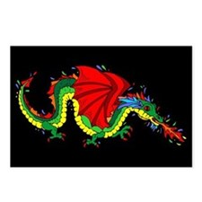 Colorful Dragon Postcards (Package of 8)