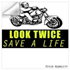 LOOK TWICE SAVE A LIFE Wall Decal