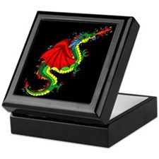 Colorful Dragon Keepsake Box