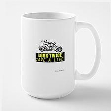 LOOK TWICE SAVE A LIFE Large Mug