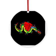 Colorful Dragon Ornament (Round)