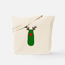 Funny Pickle Christmas Reindeer Tote Bag