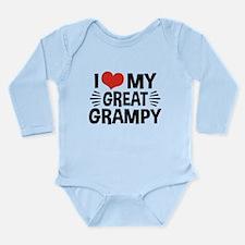 I Love My Great Grampy Long Sleeve Infant Bodysuit