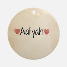 Aaliyah Round Ornament
