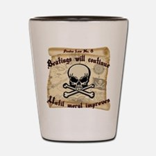 Pirates Law #8 Shot Glass