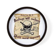 Pirates Law #8 Wall Clock