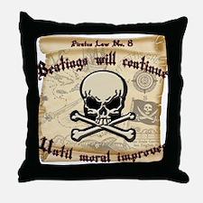 Pirates Law #8 Throw Pillow