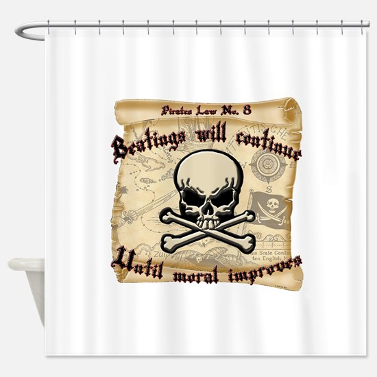 Pirates Law #8 Shower Curtain