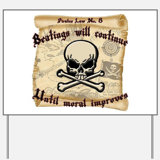 Pirates Law #8 Yard Sign