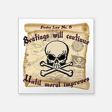 """Pirates Law #8 Square Sticker 3"""" x 3"""""""