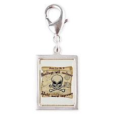 Pirates Law #8 Silver Portrait Charm