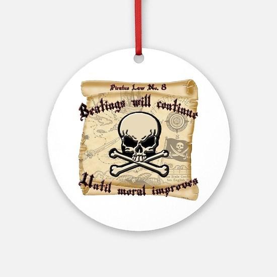 Pirates Law #8 Round Ornament