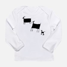 Rock Art Herd Animals - Black Long Sleeve T-Shirt