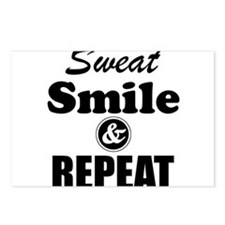 Sweat Smile and Repeat Workout Tank Postcards (Pac