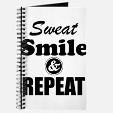 Sweat Smile and Repeat Workout Tank Journal