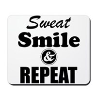 Sweat Smile and Repeat Workout Tank Mousepad