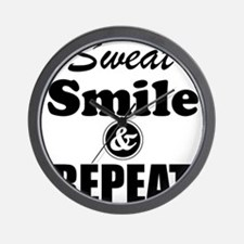Sweat Smile and Repeat Workout Tank Wall Clock