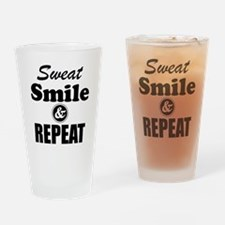 Sweat Smile and Repeat Workout Tank Drinking Glass