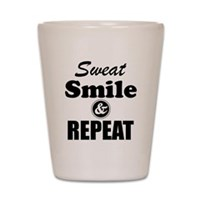 Sweat Smile and Repeat Workout Tank Shot Glass