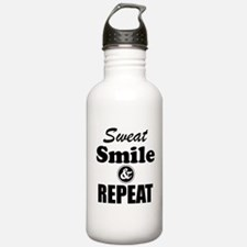 Sweat Smile and Repeat Workout Tank Water Bottle