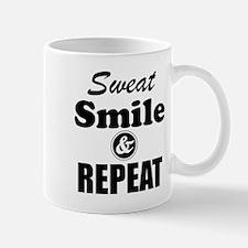 Sweat Smile and Repeat Workout Tank Mugs