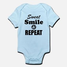 Sweat Smile and Repeat Workout Tank Body Suit