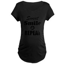 Sweat Smile and Repeat Workout Tank Maternity T-Sh