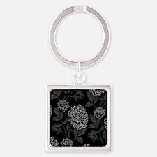 Black Dahlia Pattern Keychains