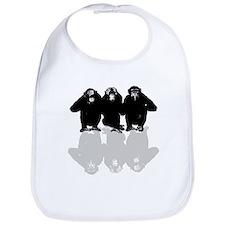 3 monkeys Bib