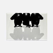 3 monkeys Magnets