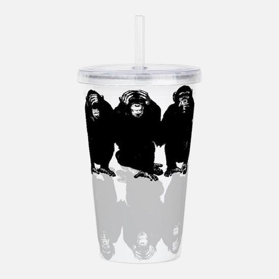 3 monkeys Acrylic Double-wall Tumbler